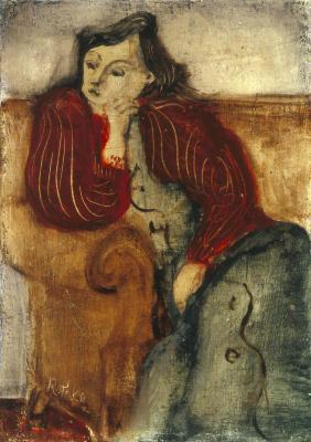 [Woman on sofa]