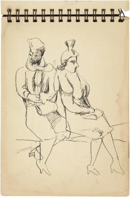 [Two seated women]    Gyral Sketch Book 2, page 7