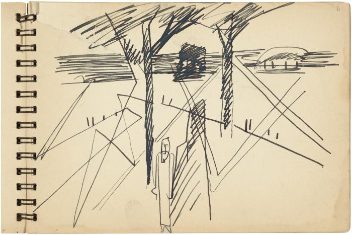 [Landscape with figure]    Gyral Sketch Book 1, page 11