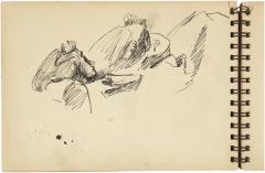 [Reclining woman, two studies] Gyral Sketch Book 2, page 26