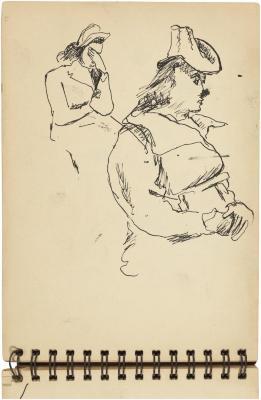 [Seated woman, two studies]    Gyral Sketch Book 2, page 27