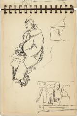 [Seated woman / still life with statues]    Gyral Sketch Book 2, page 9