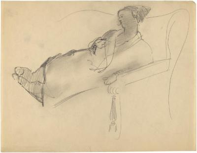 [Woman on sofa]