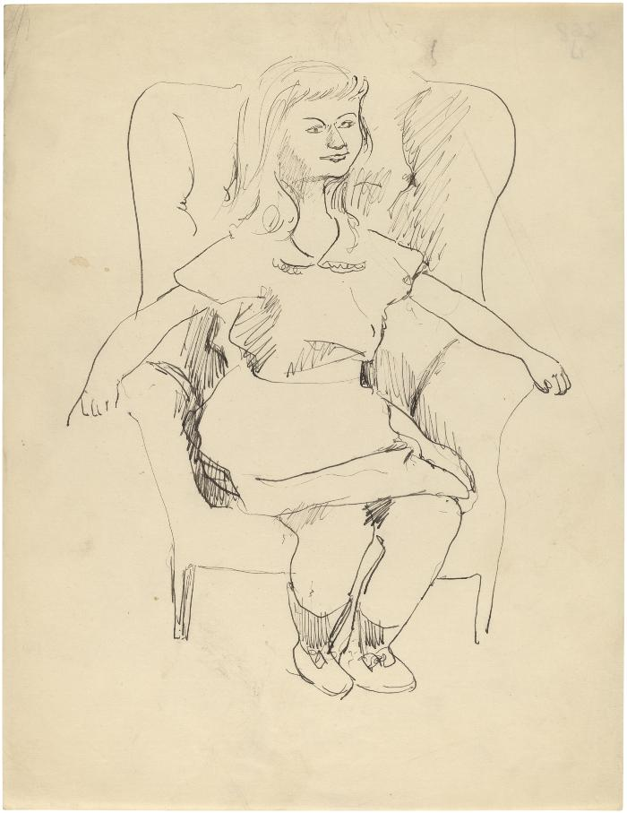 [Girl in armchair]