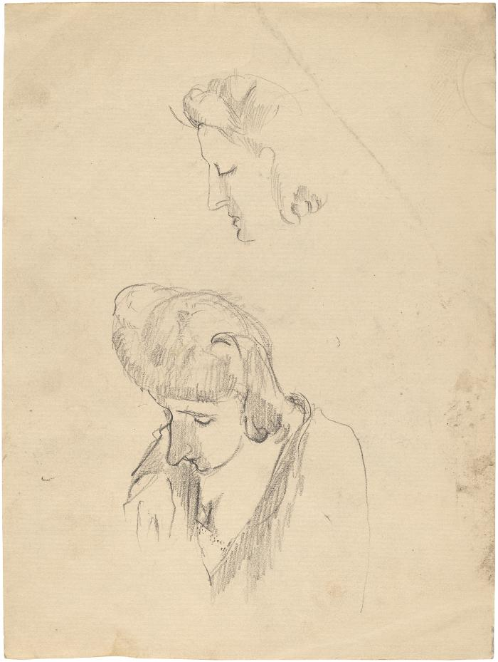 [Bust of a woman, two studies]