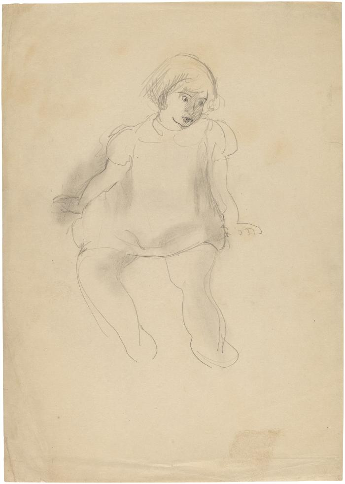 [Seated girl]