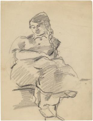 [Seated woman with book]
