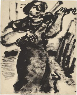 [Woman with violin]