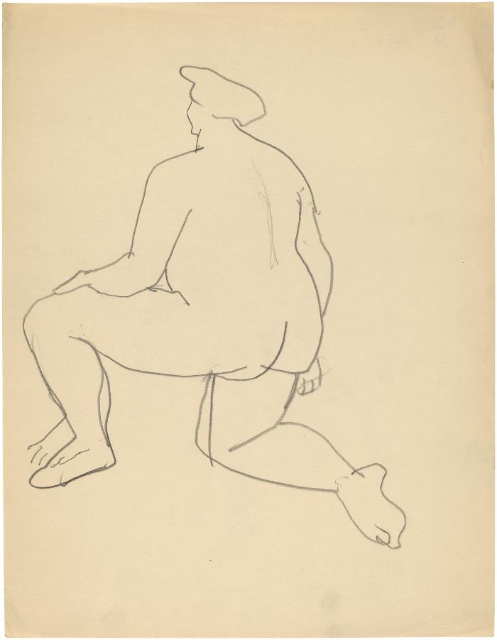 [Kneeling female nude]