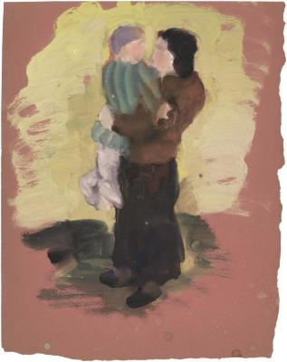 [Standing woman holding a child]