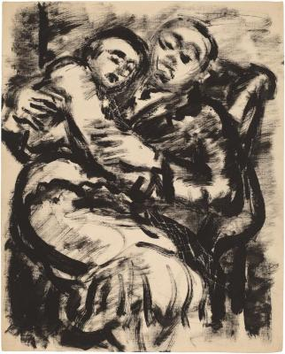[Seated couple embracing]