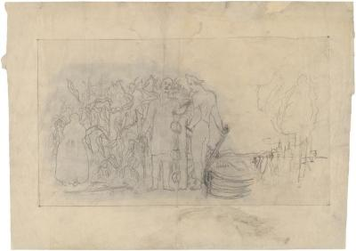 [Study for murals, Social Security Building, Washington, DC]
