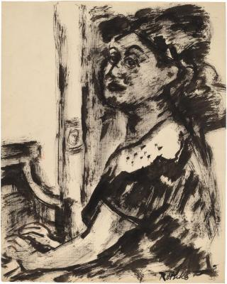 [Woman seated at piano]