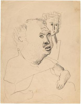 [Seated man with child]