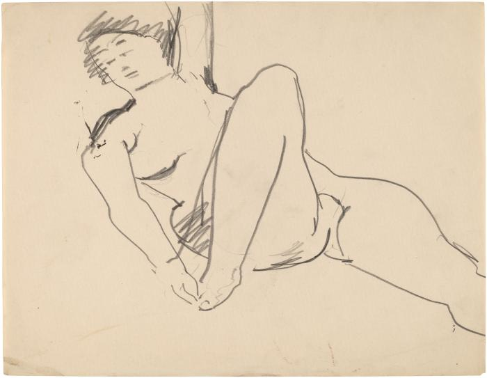 [Reclining female nude]