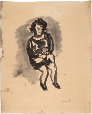 [Seated young girl]