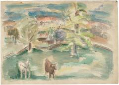 [Landscape with cows]