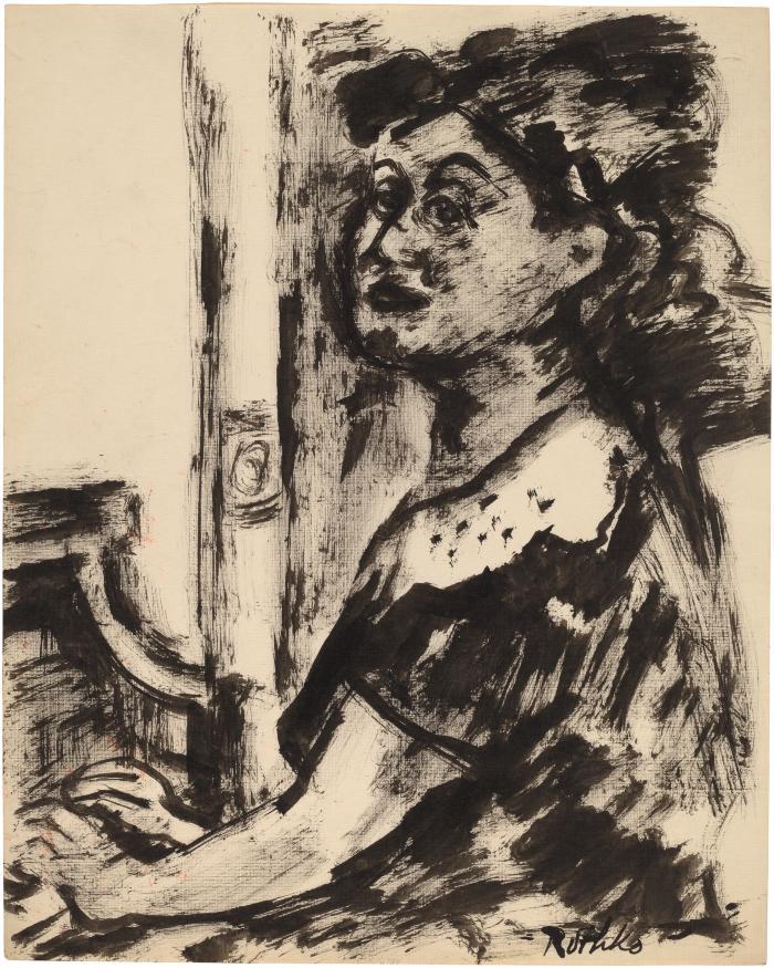 [Woman seated at piano]
