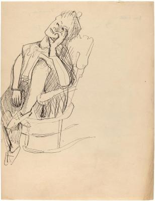 [Woman in rocking chair]