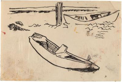[Rowboats by dock]