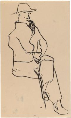 [Seated man]