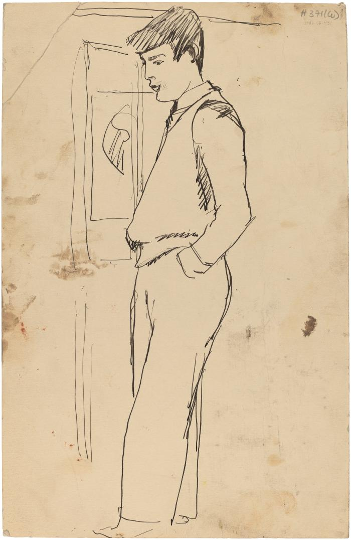 [Standing man by window]