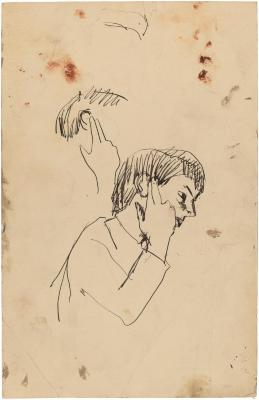 [Bust of a boy, two studies]