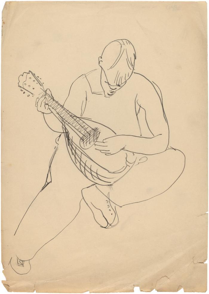 [Seated boy with mandolin]