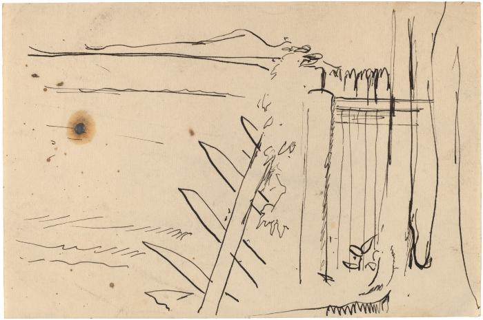 [Landscape with fence]