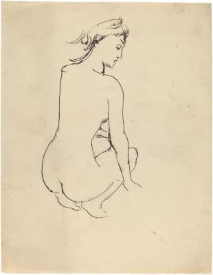 [Crouching female nude]