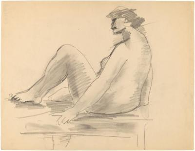 [Female nude on table]