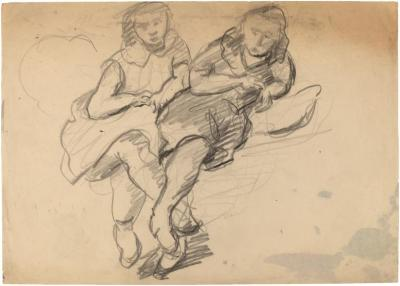 [Two reclining women]