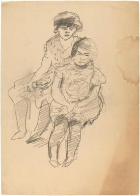 [Two seated girls]