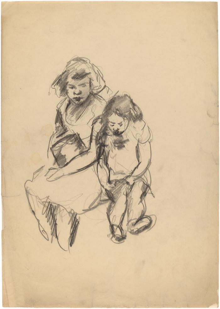[Seated girl and young woman]