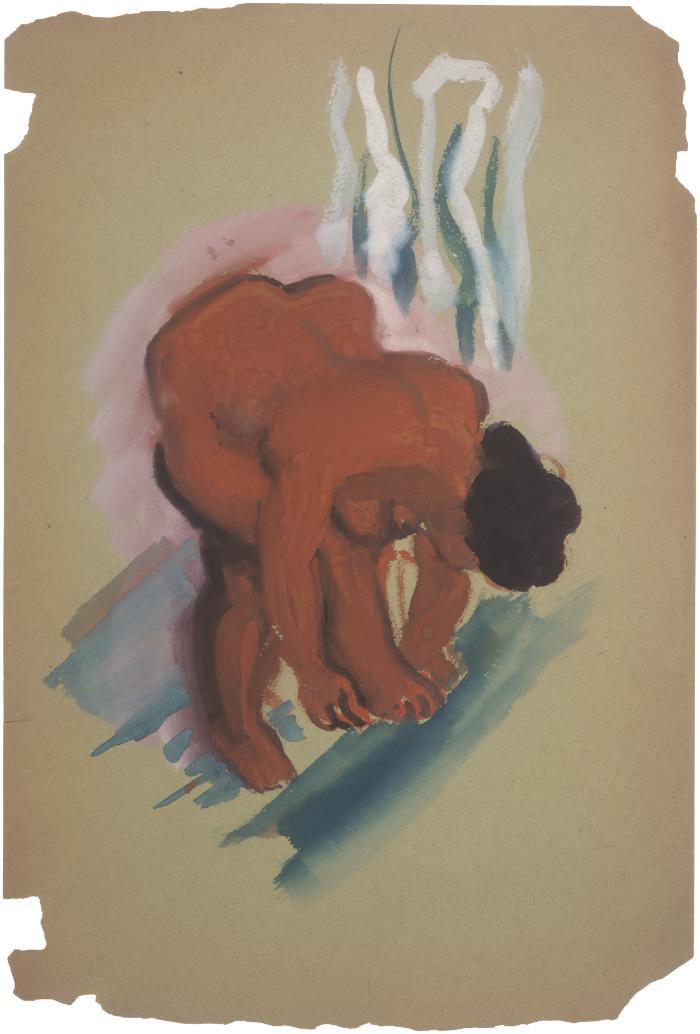 [Bending female nude]