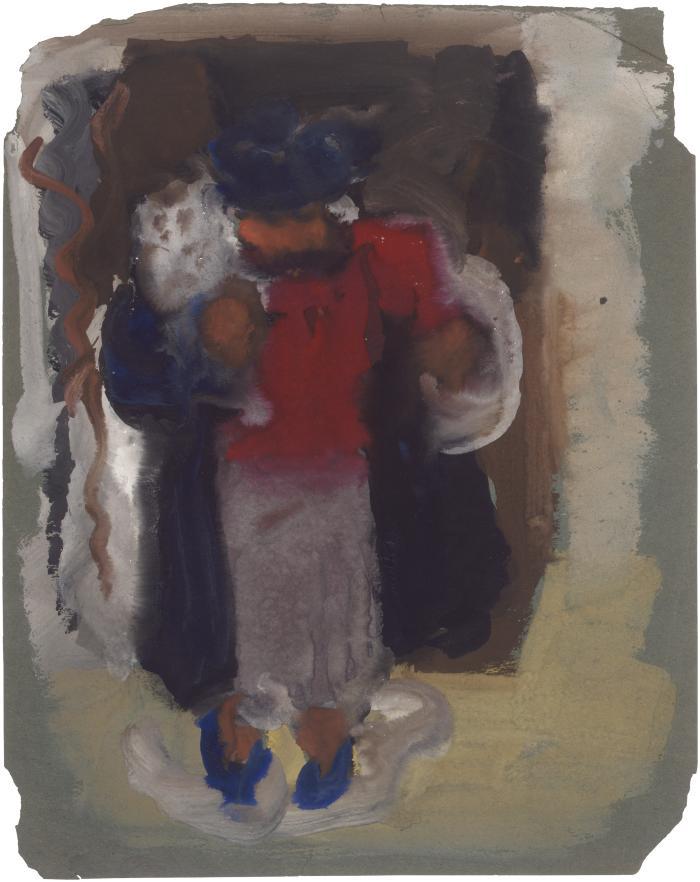[Standing woman]