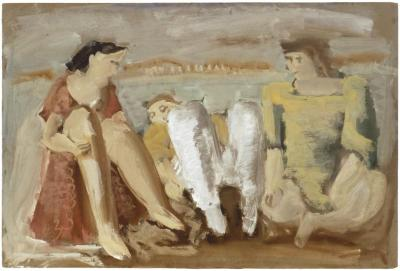 [Figures in a landscape]