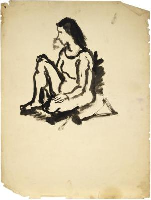 [Seated woman]