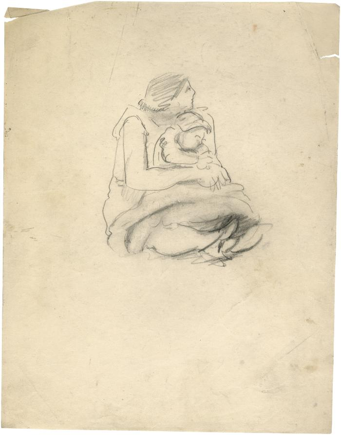 [Seated woman with child in her lap]