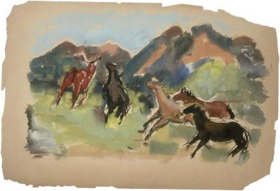 [Horses and mountains]