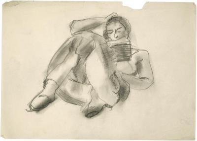 [Reclining woman reading]