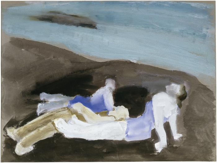 [Bathers at the beach]