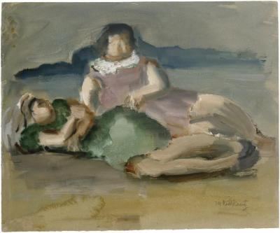 [Two women on the beach]
