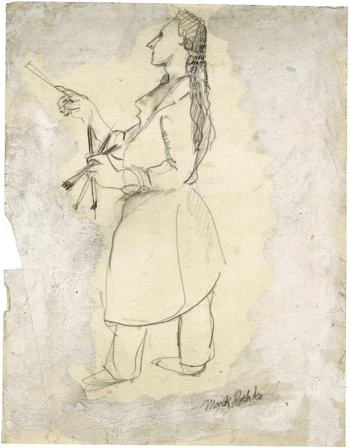 [Standing woman painting]