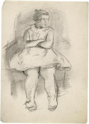 [Girl in an armchair]