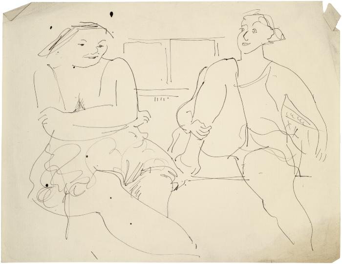 [Two seated women]