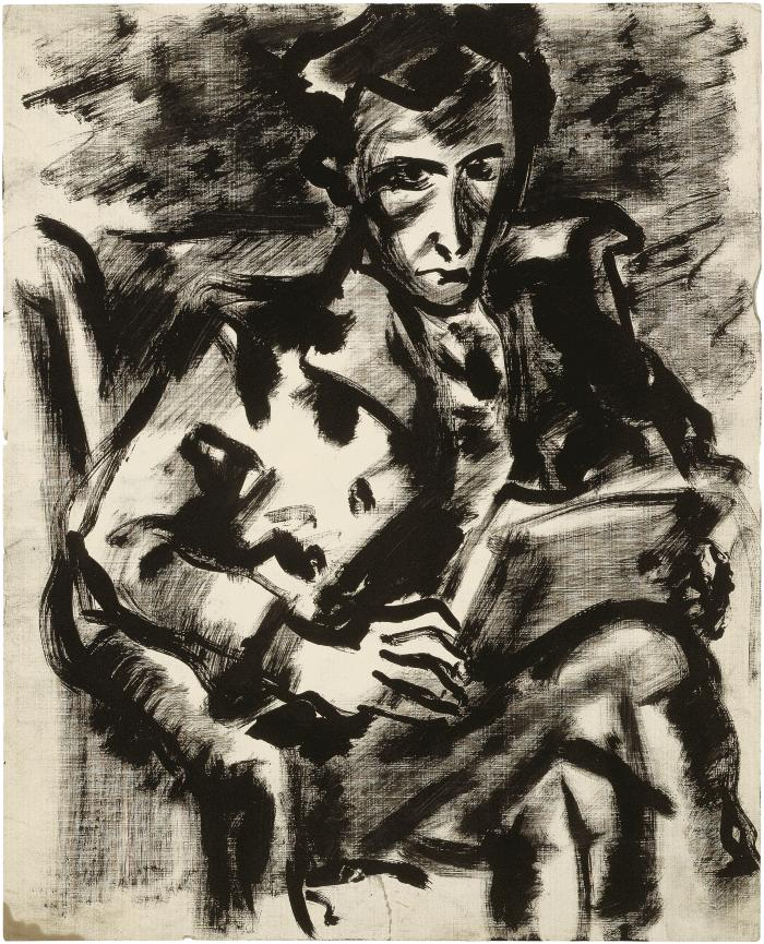 [Seated man reading]