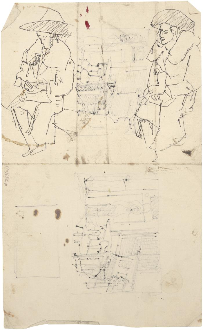 [Seated woman, two studies]