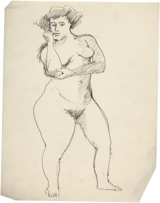 [Standing female nude]
