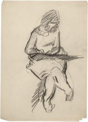 [Seated girl drawing]